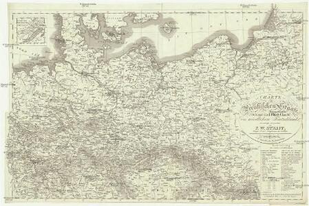 Charte vom Preussischen Staate oder Gebirgs- und Fluss- Charte des nördlichen Teutschlands