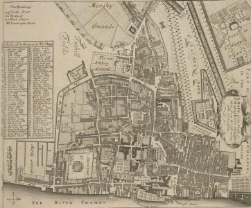 A MAPP of the Parish of St MARGARETS Westminster taken from the last Survey with Corrections 7 B