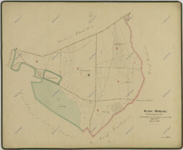Hospodářská mapa polesí Borkovice 1