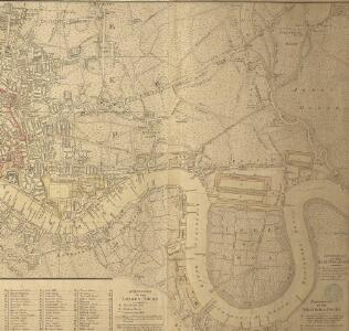 Rowe's map of London, westminster and Southwark, exhibiting the various improvements to the year 1804, detail showing the London and west india Docks