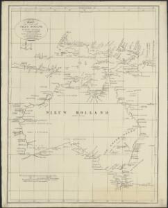 Kaart van Nieuw Holland, Nieuw Guinea, en omliggende eilanden : behoorende tot de door het Provinciaal Utrechtsch Genootschap bekroonde Verhandeling van R.G. Bennet en J. van Wyk Rz.