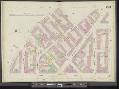 Manhattan, V. 3, Double Page Plate No. 59 [Map bounded by Bank St., W. 12th St., 6th Ave., W. 4th St., Perry St.]