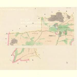 Jetischau (Getissow) - c2868-1-001 - Kaiserpflichtexemplar der Landkarten des stabilen Katasters