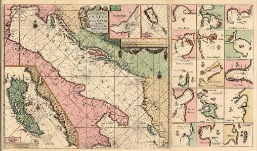 Pas-Caart-van de Weder zytsche Zee-kusten soo van Italia als Dalmatia en Griecken Inde Golff van Venetien