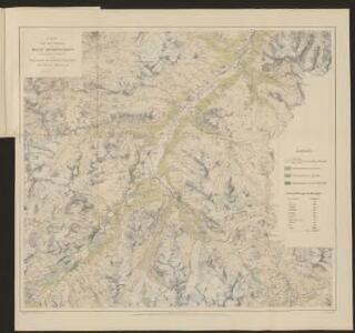 Karte über das Auftreten des grauen Lärchenwicklers (Steganoptycha pinicolana Zll.) in den Waldungen des oberen Engadins 1878,79 & 80 & 1886,87 & 88