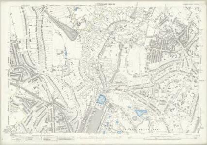 London (Edition of 1894-96) CXXXVII (includes: Beckenham; Camberwell; Lambeth St Mary; Lewisham; Penge) - 25 Inch Map