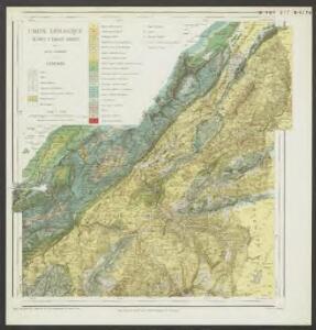 Carte géologique du Pays d'Enhaut vaudois 1:50 000