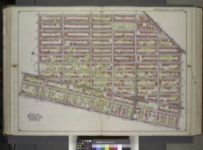 Brooklyn, Vol. 1, Double Page Plate No. 22; Part of Ward 25, Section 6; [Map bounded by Hanock St., Bainbridge St., Broadway, Rockaway Ave.; Including Atlantic Ave., Utica Ave., Fulton St., Reid Ave.] / by and under the direction of Hugo Ullitz.