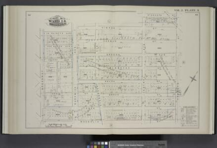 Vol. 2. Plate, N. [Map bound by La Fayette Ave., Himrod St., Stanhope St., Hamburg St., Magnolia St., Broadway; Including Van Buren Ave., Harman St., Greene Ave., Bleecker St., Ralph St., Grove St., Linden St., Central Pl., Bushwick Ave., Evergreen Ave.,