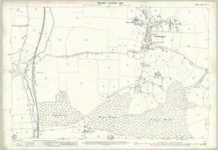 Essex (1st Ed/Rev 1862-96) XIV.5 (includes: Henham; Widdington) - 25 Inch Map