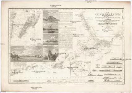 DIE CHINESISCHE KÜSTE DER Provinz Kuang-tung, zu beiden Seiten des Meridians von Macao