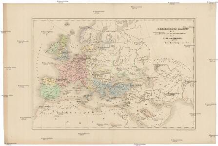 Uebersichts-Karte für die Geschichte von der Völkerwanderung bis auf Carl den Grossen