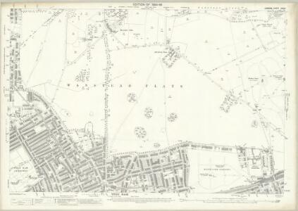 London (Edition of 1894-96) XXXIII (includes: Cann Hall; East Ham; Wanstead; West Ham) - 25 Inch Map