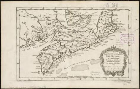 Carte de l'Acadie, Isle Royale, et Païs Voisins
