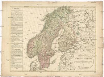 General Karte von Schweden und Norwegen