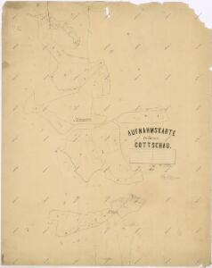 Záměrná mapa revíru Kočov