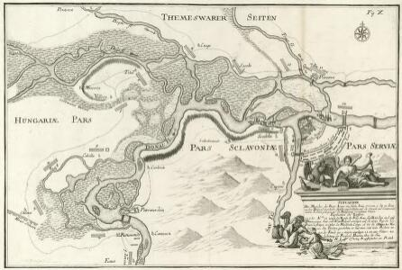 Situation Des Marches der Kays. Armee, wie solche Anno 1717 vom 9. bis 21. Iuny. nacher Belgrad marchiret, dieselbe eingeschlossen und Circum- und Contravallations-Linien gezogen und die Belagerung vornehmen können.