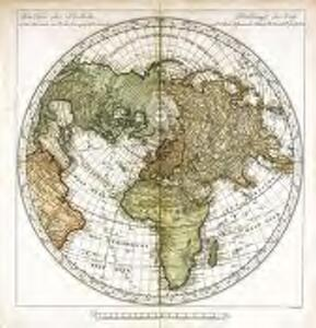 Die obere oder nordliche Halbkugel der Erde