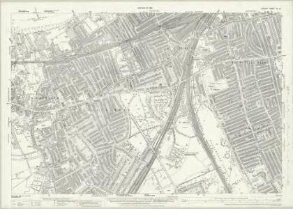 London (1915- Numbered sheets) VIII.12 (includes: Battersea; Wandsworth Borough) - 25 Inch Map