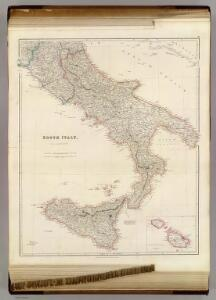 South Italy (with) The Maltese Islands.
