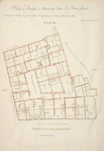 Plan OF Houses IN Mincing Lane AND Tower Street Charged with the payment of the Benefaction OF Edmund Hammond ESQ