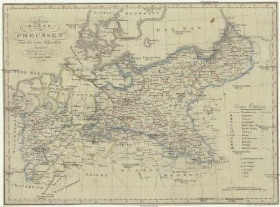 Karte von Preussen