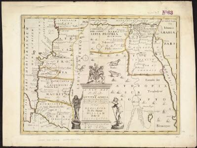 A new map of the north part of antient Africa shewing the chiefe people, cities, towns, rivers, mountains, &c. in Mauritania, Numidia, Africa Propria, Libya Propria and Egypt