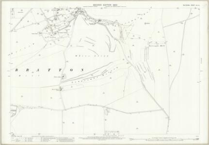 Wiltshire XLV.6 (includes: Bratton; Edington) - 25 Inch Map