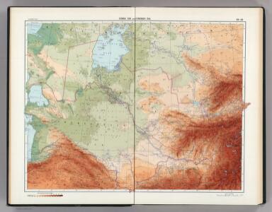 28-29.  Uzbek SSR and Turkmen SSR.    The World Atlas.