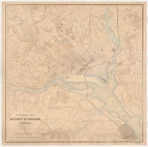 Topographical map of the District of Columbia and a portion of Virginia