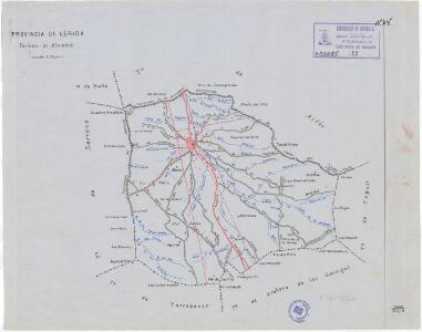 Mapa planimètric d'Alcanó