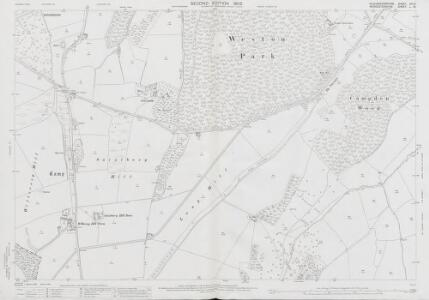 Gloucestershire VII.15 (includes: Broadway; Chipping Campden; Saintbury; Weston Subedge; Willersey) - 25 Inch Map