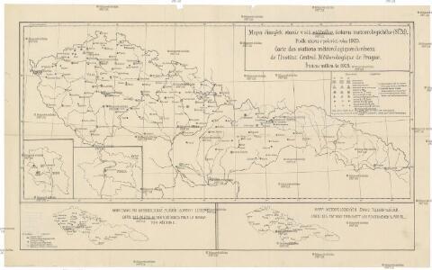 Mapa činných stanic v síti státního ústavu meteorologického (SÚM)