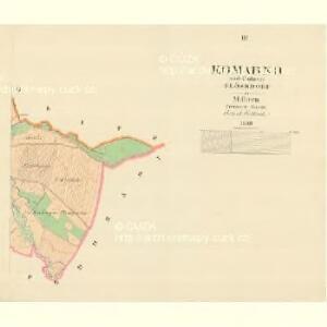 Komarno - m1250-1-002 - Kaiserpflichtexemplar der Landkarten des stabilen Katasters