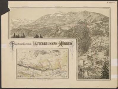 Project einer Eisenbahn Lauterbrunnen-Mürren