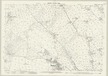 Cornwall LXVIII.13 (includes: Madron; Penzance) - 25 Inch Map