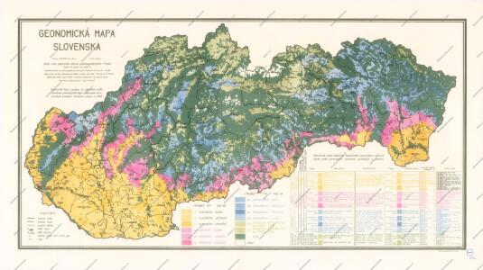 Geonomická mapa Slovenska