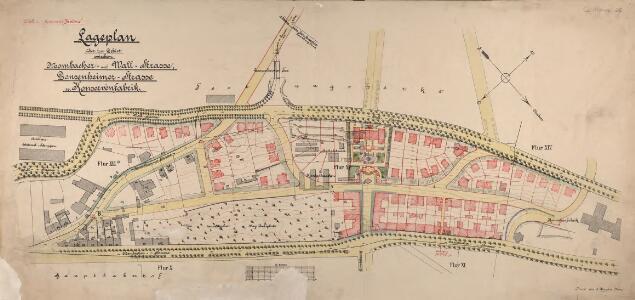 Lageplan über das Gebiet zwischen Mombacher- und Wall-Strasse, Gonsenheimer-Strasse u. Konservenfabrik