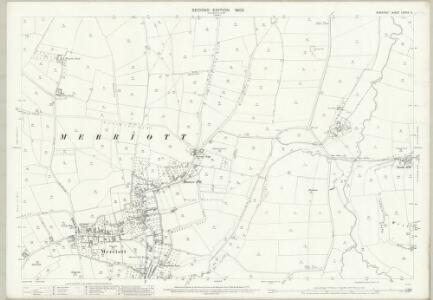 Somerset LXXXIX.5 (includes: Haslebury Plucknett; Merriott; West Chinnock) - 25 Inch Map