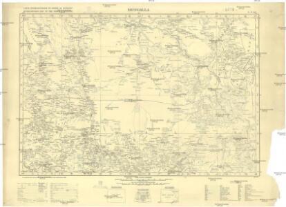 Carte internationale du monde au 1000,000 E