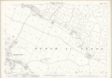 Norfolk C.1 (includes: Aldeby; Burgh St Peter; Wheatacre) - 25 Inch Map