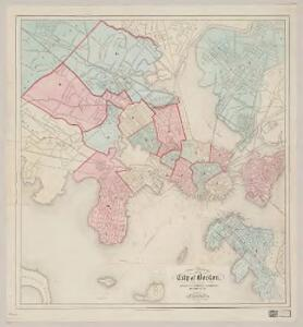 A new & complete map of the city of Boston : with part of Charlestown, Cambridge, Brookline, Dorchester &c