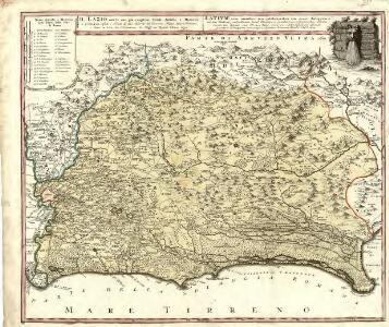 Il Lazio, con le sue piu cospicue Strade Antiche e Moderne e principali casali e Tenute di esso