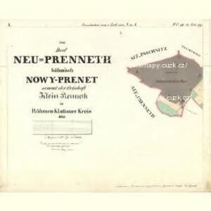 Neu Preneth - c5320-2-001 - Kaiserpflichtexemplar der Landkarten des stabilen Katasters