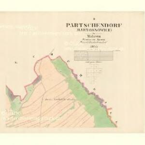 Partschendorf (Bartossowice) - m0035-1-002 - Kaiserpflichtexemplar der Landkarten des stabilen Katasters