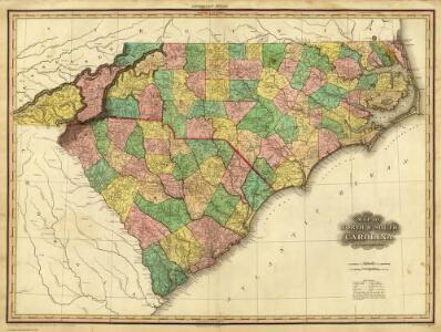 Map of North & South Carolina.