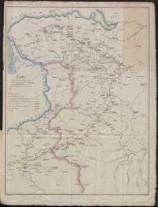 Carte des operations du corps d'armée commandé par le général polonais, Henri Dembinski en 1831