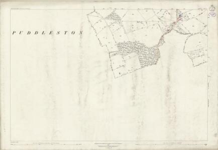 Worcestershire XXV.8 (includes: Bockleton; Hatfield; Pudlestone) - 25 Inch Map