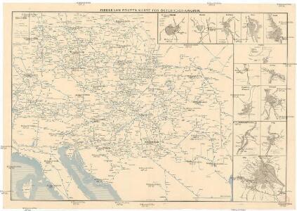 Eisenbahn-Routen-Karte für Österreich-Ungarn