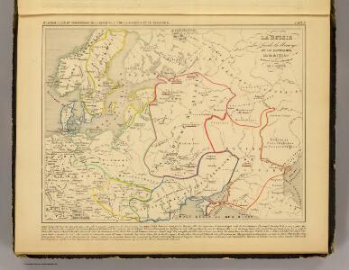 Russie, Suede, Norwege, Danemarck a la fin du IXe. siecle.